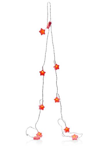 Rubber Star String Lights,PINK,large
