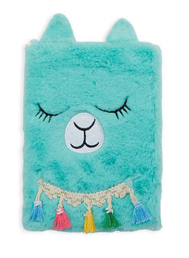 Faux Fur Llama Journal,MULTI COLOR,large