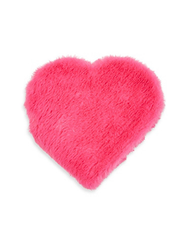Faux Fur Heart Notebook,RED,large
