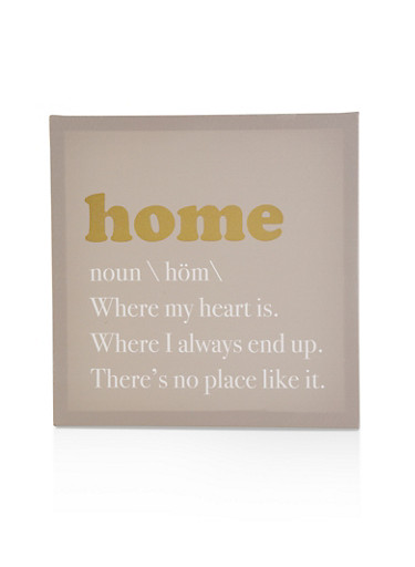 Home Canvas Wall Art,WHITE,large