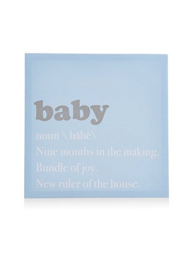 Baby Canvas Wall Art,BLUE,large