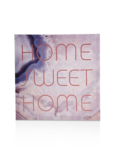 Home Sweet Home Canvas Wall Art,PINK,large