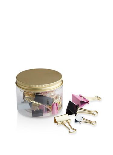 Assorted Binder Clips Jar,MULTI COLOR,large