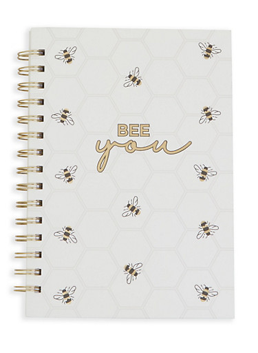 Bee You Spiral Notebook,IVORY,large