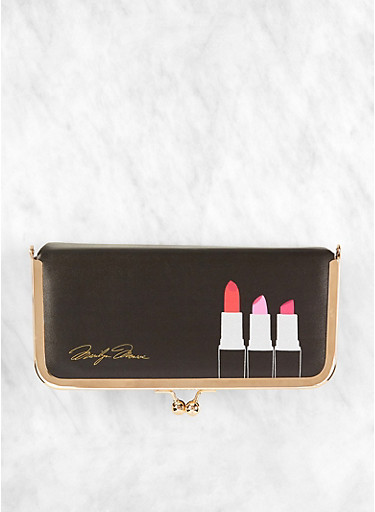 Lipstick Graphic Cosmetic Box,BLACK,large