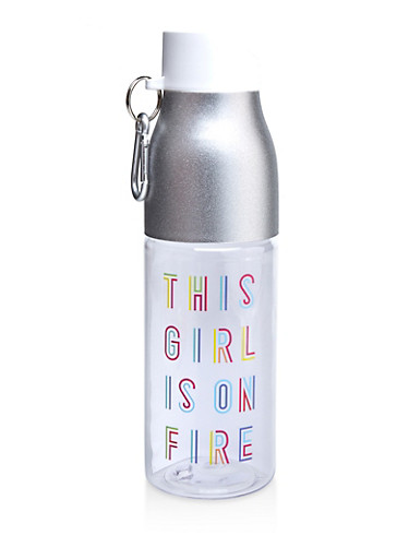 This Girl Is On Fire Water Bottle,SILVER,large