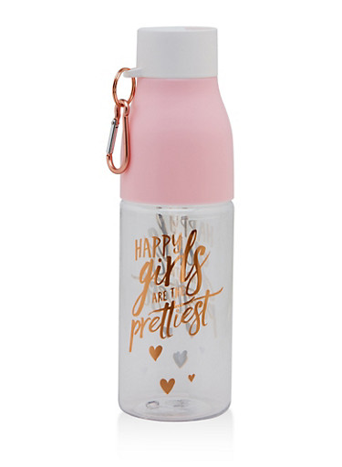 Happy Girls Are The Prettiest Water Bottle,PINK,large