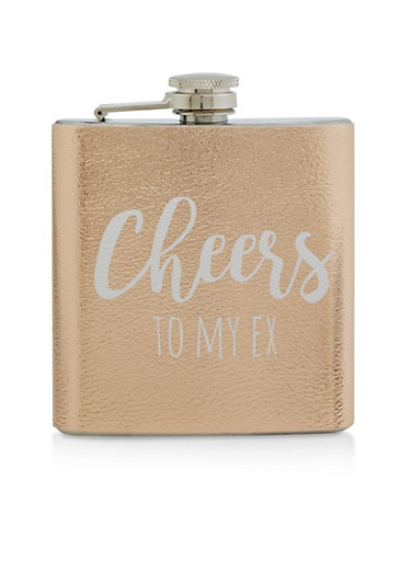Cheers To My Ex Flask,ROSE,large