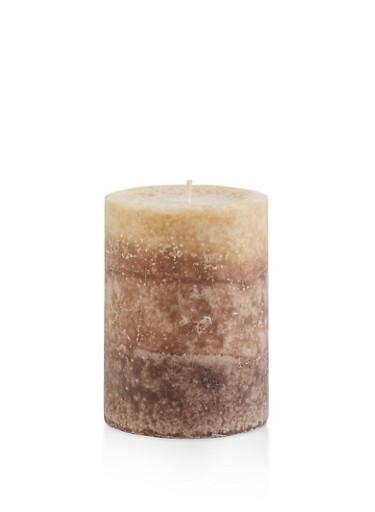 4 Inch Pillar Candle   Creamy Tahitian Coconut by Rainbow