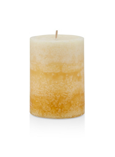 4 Inch Pillar Candle | French Country Vanilla,WHITE,large