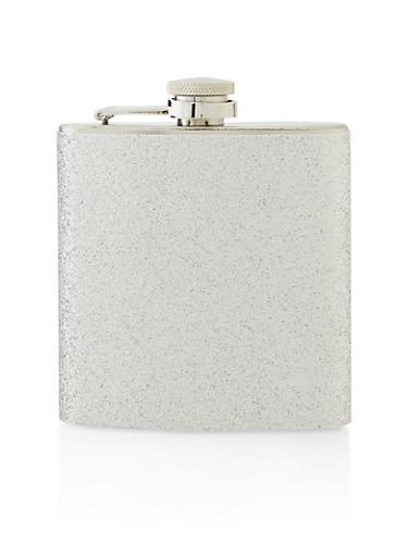Glitter Flask,SILVER,large