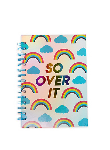 So Over It Rainbow Spiral Notebook,MULTI COLOR,large