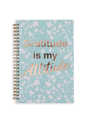 Gratitude is My Attitude Spiral Notebook,MINT,large