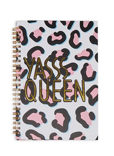 Yasss Queen Spiral Notebook,PINK,large