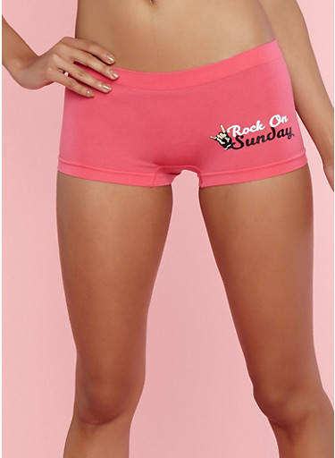 Seamless Day of the Week Graphic Boyshort Panties at Rainbow Shops in Jacksonville, FL | Tuggl