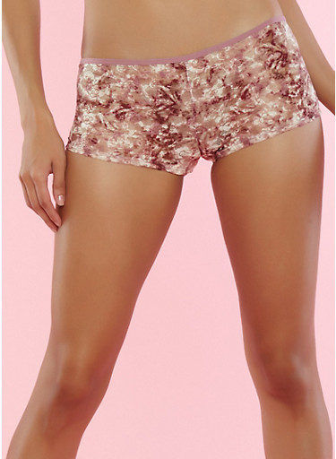 Floral Lace Boyshort Panties | Tuggl