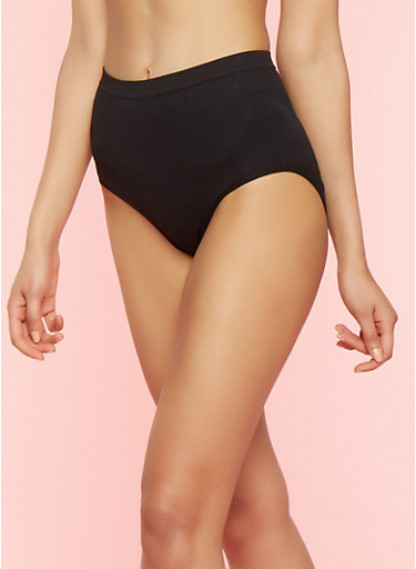High Waisted Shapewear Panties,BLACK,large