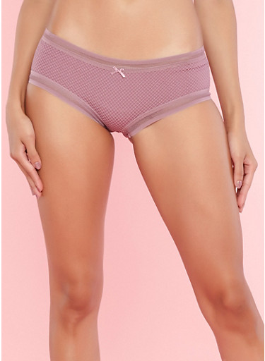 Fishnet Lace Boyshort Panties,DUSKY ORCHID,large