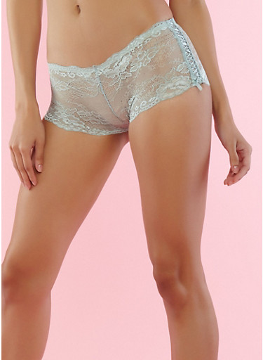 Jade Lace Boyshort Panties,JADE,large