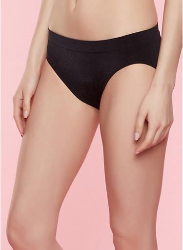 Seamless Bikini Panty | 7162064870002,BLACK,large
