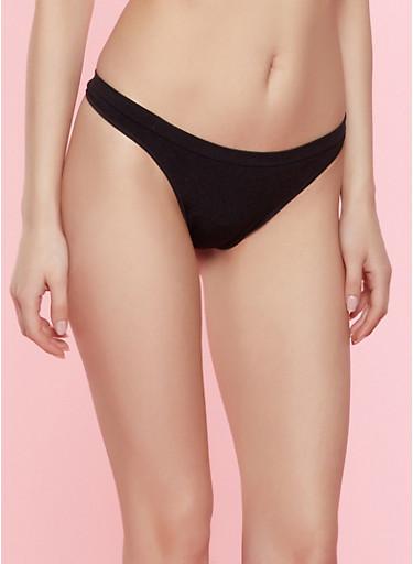 Seamless Thong Panty | 7162064870005,BLACK,large
