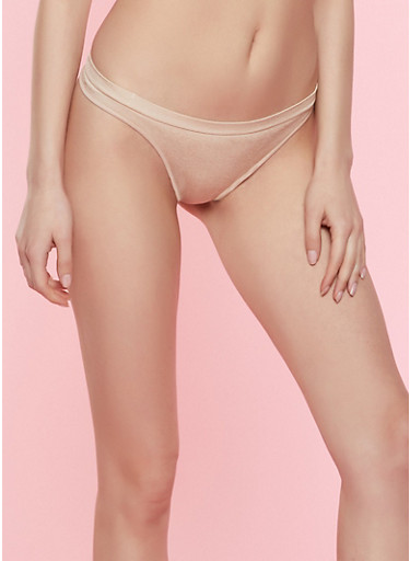 Solid Seamless Thong Panty | Nude,NUDE,large