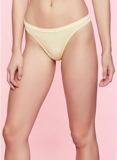 Seamless Thong Panty   7162064871920,YELLOW,large