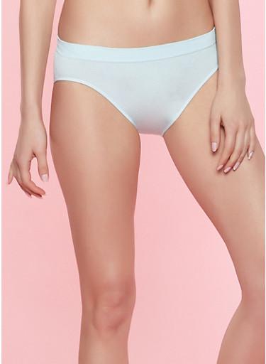 Seamless Solid Bikini Panty,MINT,large
