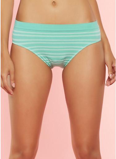 Striped Bikini Panty,MINT,large
