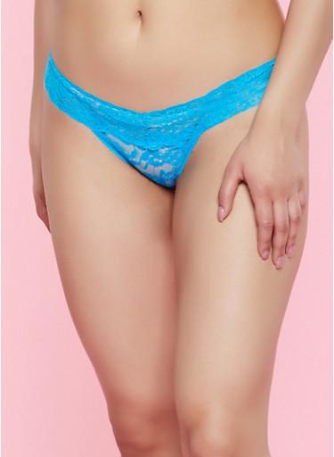 Lace Thong Panty | 7162068067553,TURQUOISE,large