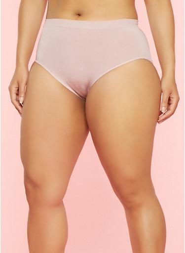 Plus Size Seamless Bikini Panties | Tuggl