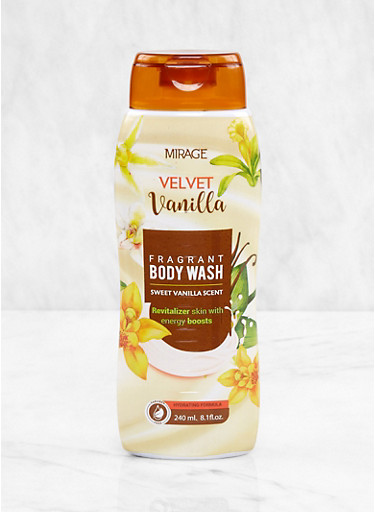 Velvet Vanilla Fragrant Body Wash,CLEAR,large