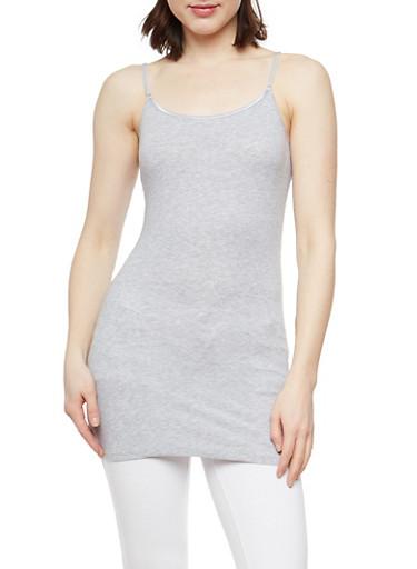 Basic Cami Tank Top,HEATHER,large