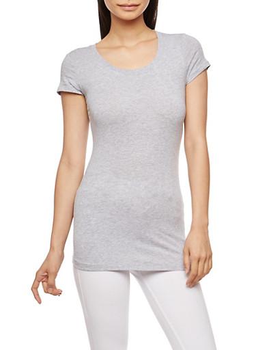 Basic Scoop Neck T Shirt | Tuggl