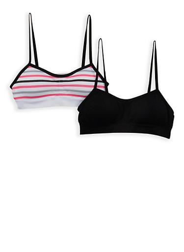Girls 7-16 Padded Cami Bra,BLACK,large