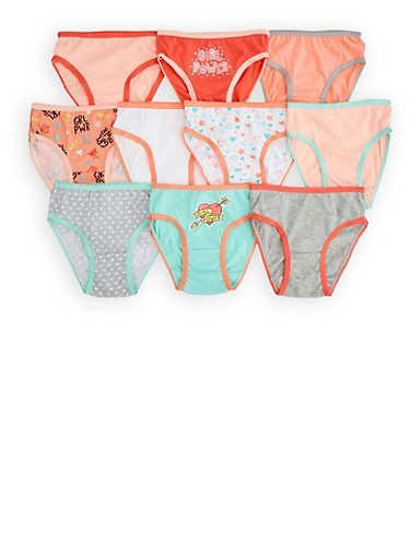 Girls 4-6x Assorted 10 Pack Grl Pwr Panties,MULTI COLOR,large