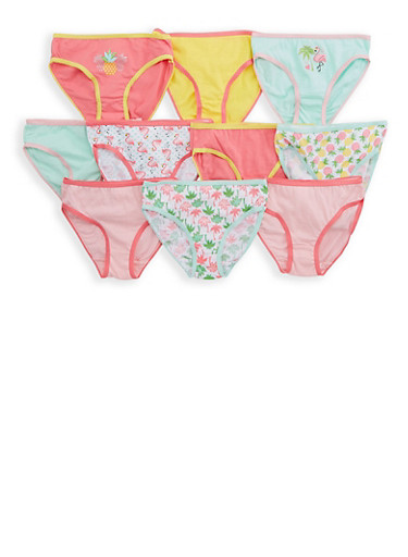 Girls 4-6x Assorted 10 Pack of Panties,MULTI COLOR,large