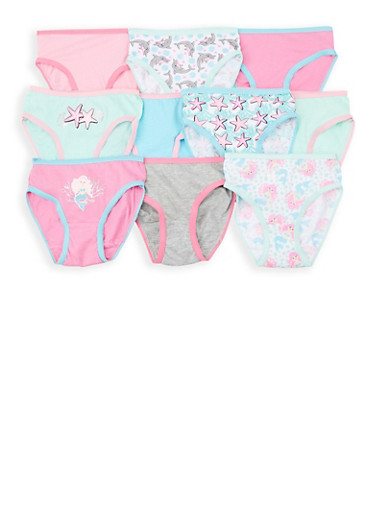 Girls 4-6x 10 Pack Assorted Panties,MULTI COLOR,large