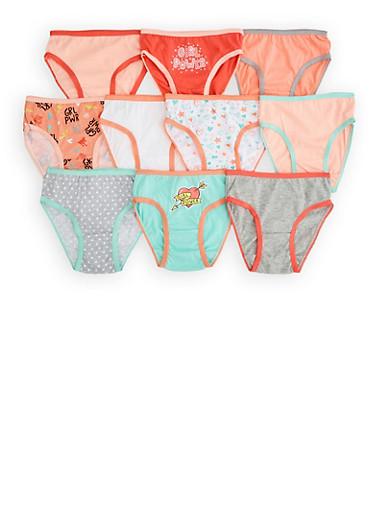 Girls 7-16 Printed 10 Pack Panties,MULTI COLOR,large
