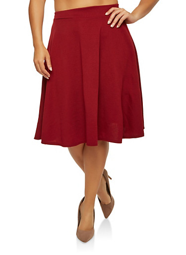 Plus Size Skater Skirt | Tuggl
