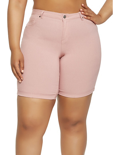 Plus Size Stretch Bermuda Shorts | Tuggl