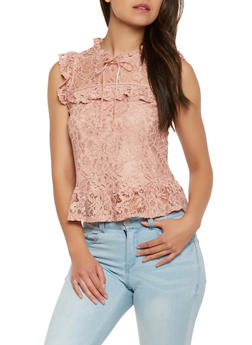 Ruffled Lace Top - 0002054265854