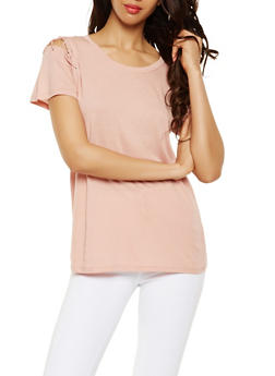 Lace Up Sleeve Tee - 0012054260501