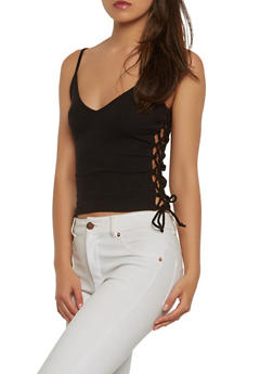 Lace Up Side Cami - 0012054260523