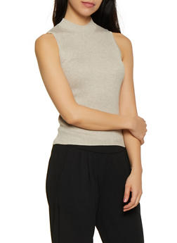 Ribbed Mock Neck Sweater - 0020054265859