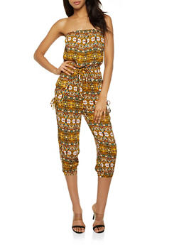 Printed Tube Jumpsuit - 0045038341323