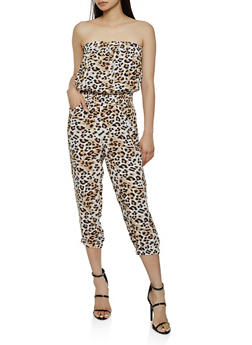 Printed Tube Jumpsuit | 0045038345320 - MOCHA - 0045038345320