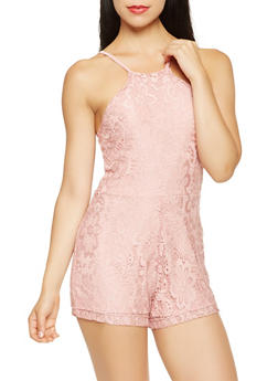 Sleeveless Lace Romper - 0045038348748