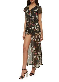 Floral Maxi Romper - 0045051060998