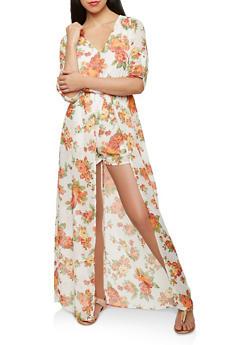 3cfaaaa22de Floral Maxi Romper - 0045051061073